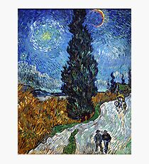 Road with Cypress and Star by Vincent van Gogh Photographic Print
