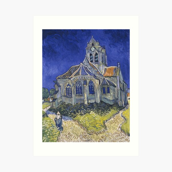 The Church at Auvers by Vincent van Gogh Art Print