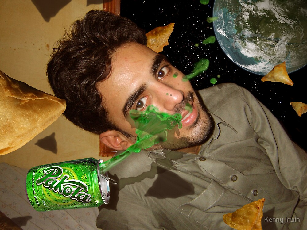 I am enjoying my Pakola and Samosas outside the orbit of Mars by Kenny Irwin