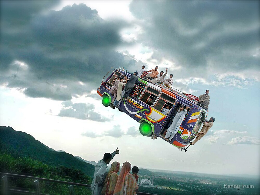 Look everyone! Let's wave to the Islamabad Express Punctual 3PM Spacebus! by Kenny Irwin