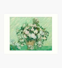 Vase with Pink Roses by Vincent van Gogh Art Print