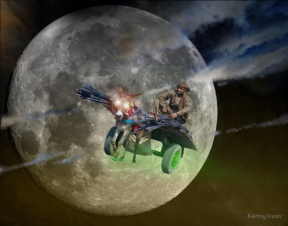 Pathan Moonlight Delivery on an Experimentally Piloted Prototype Khandobot Donkeydriod by Kenny Irwin