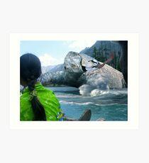 The Saiful Muluk lake Monster Art Print