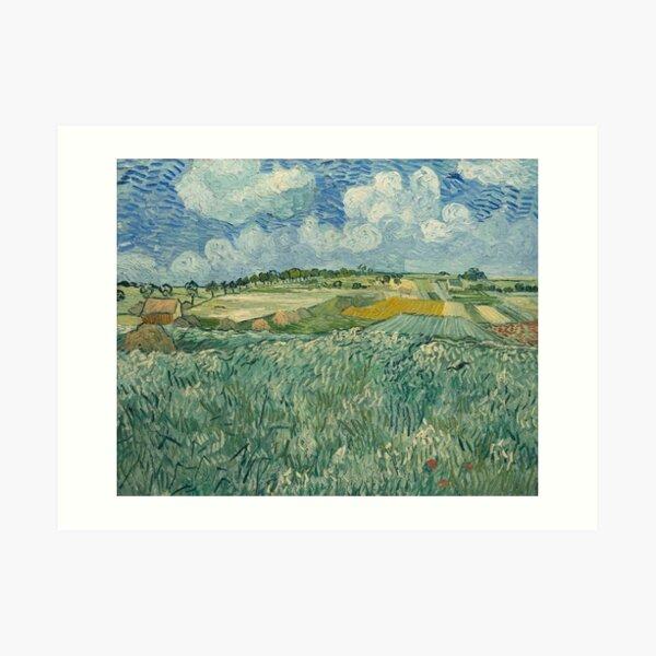 Plain Near Auvers by Vincent van Gogh Art Print