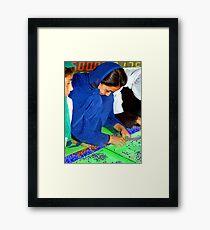 Electroweaving in Cholistan Framed Print