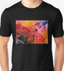 Warm Abstract Sun Fire Collage  Unisex T-Shirt