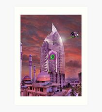 The New Lahore Skycity Pakistani Starfleet Headquarters Art Print
