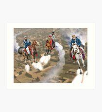 Peshawar پشاور Cronosphere Rocket Horse Racers Art Print