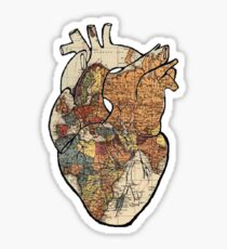 Wanderlust Heart Sticker