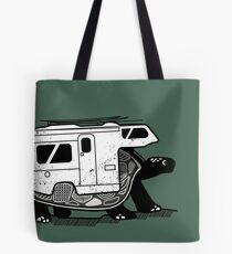 Vanlife turtle adventurer camper art  Tote Bag