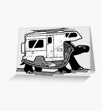 Vanlife turtle adventurer camper art  Greeting Card
