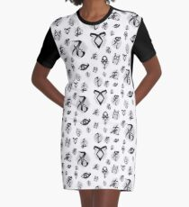Shadowhunters Rune's. The mortal instruments Graphic T-Shirt Dress