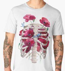 Rib cage with poppy  Men's Premium T-Shirt