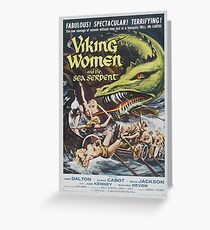 Viking Women and the Sea Serpent Greeting Card