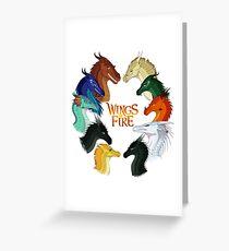 Tarjeta de felicitación Alas de fuego: todas juntas