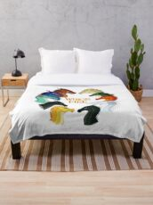 Wings of Fire - All Together Throw Blanket