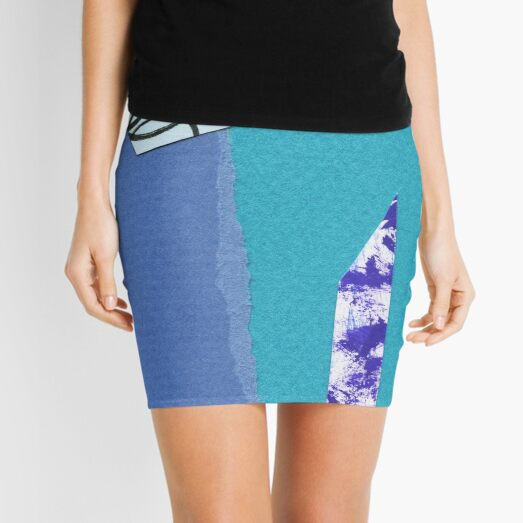 collage Mini Skirt