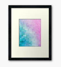 Abstract Watercolor Pixel Pattern Framed Print