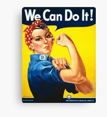 We Can Do It - Rosie the Riveter Canvas Print