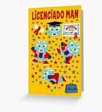 Wrestler Licenciado Man Greeting Card