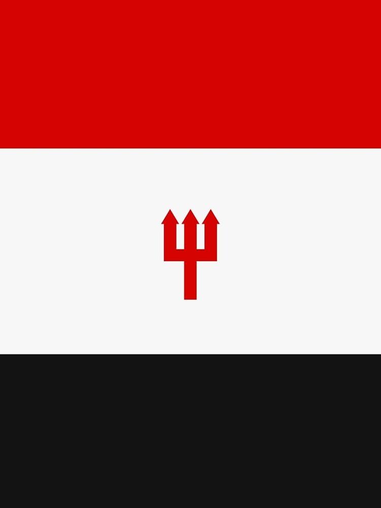 United Trident Design - Rot, Weiß & amp; Schwarz von UnitedDesign