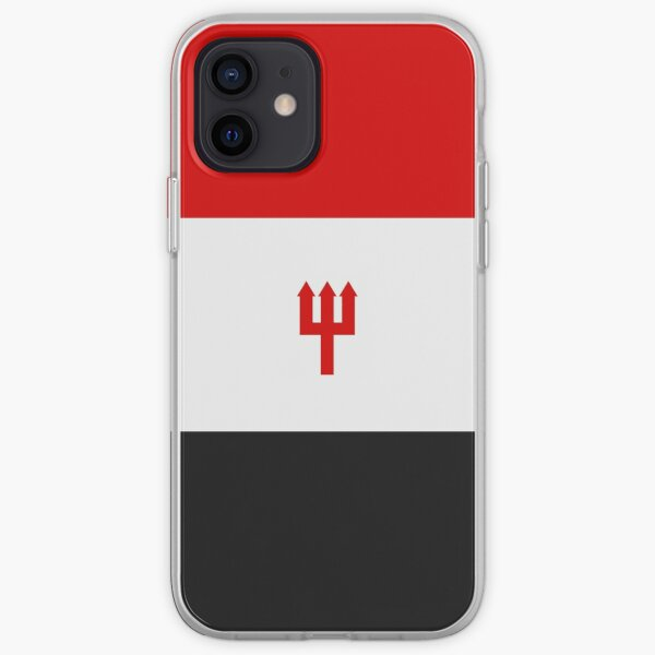 United Trident - Red, White and Black iPhone Soft Case