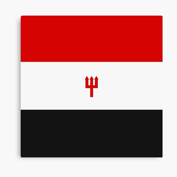 United Trident - Red, White and Black Canvas Print