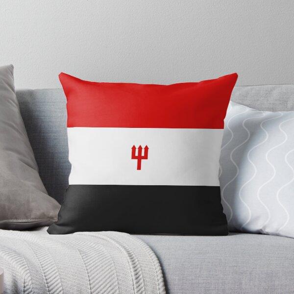 Manchester United: ¡algo que se vería genial en los productos enumerados a continuación!  Este diseño es similar a los que a menudo se ven en las banderas relacionadas con United que los fanáticos del club traen a los juegos. Cojín
