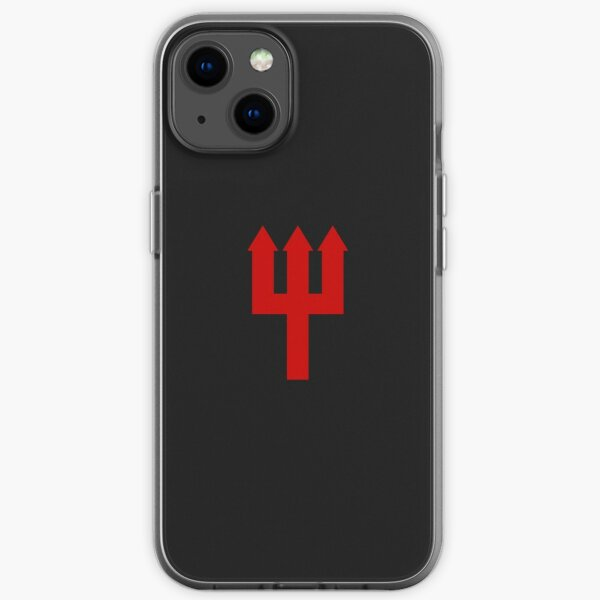 United Trident Design - Black and Red iPhone Soft Case