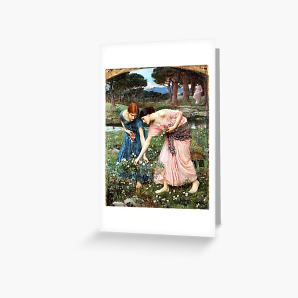 Old Masters Fine Art Gather ye Rosebuds While ye May John William Waterhouse  Greeting Card