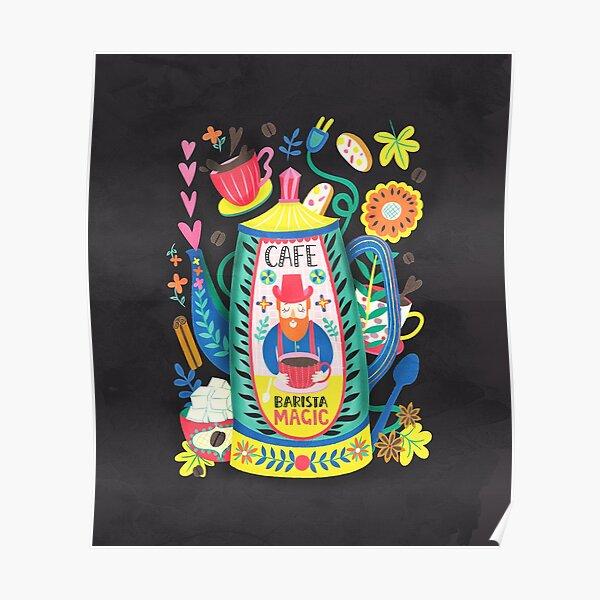 Coffee Lovers-Barista Magic Poster