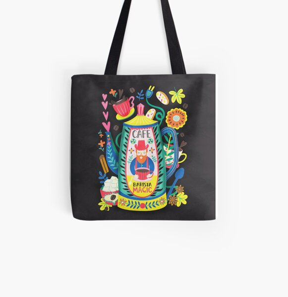 Coffee Lovers-Barista Magic All Over Print Tote Bag