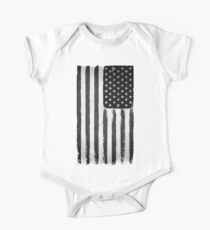 American flag grunge Black and white Kids Clothes