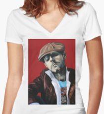 Mister King Women's Fitted V-Neck T-Shirt