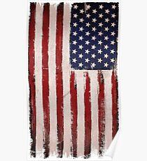 USA flag Grunge Vintage colors Poster