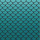 Aqua Mermaid Scales by lilloafdesigns