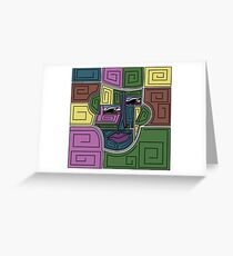 Geometric Portrait Greeting Card
