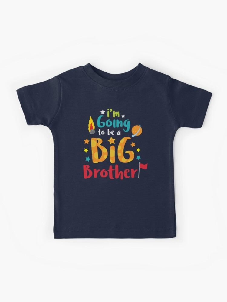 WithCongratulations Promoted to Big Brother Childrens Kids New Baby Long Sleeve Top Tees T-Shirt with Design Gift Idea