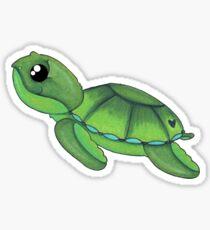 Swimming baby sea turtle Sticker