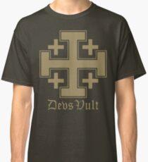 Deus Vult Cross (Sand) Classic T-Shirt