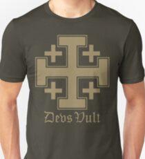 Deus Vult Cross (Sand) T-Shirt
