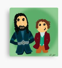 Bilbo & Thorin Canvas Print