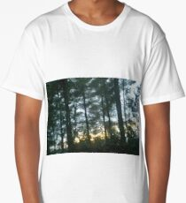 Sunset behind the trees Long T-Shirt