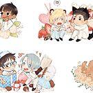 YOI White Day Zine Stickers by talentlesshuman
