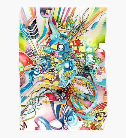 Unlimited Curiosity - Watercolor and Felt Pen Poster
