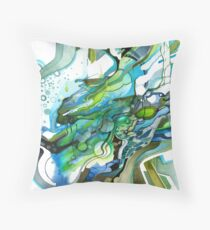 Approaching Eleven Percent From Behind  - Watercolor Painting Throw Pillow