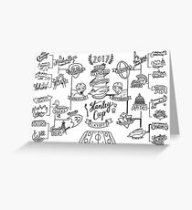 2017 Stanley Cup Bracket Greeting Card