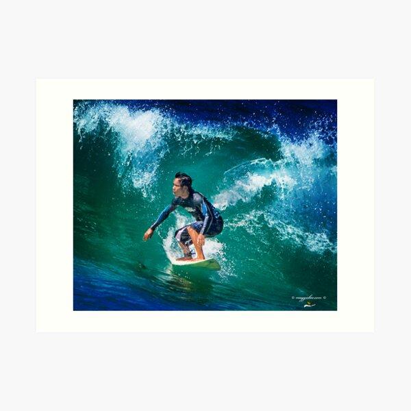 Surfs up at Redhead Beach Art Print