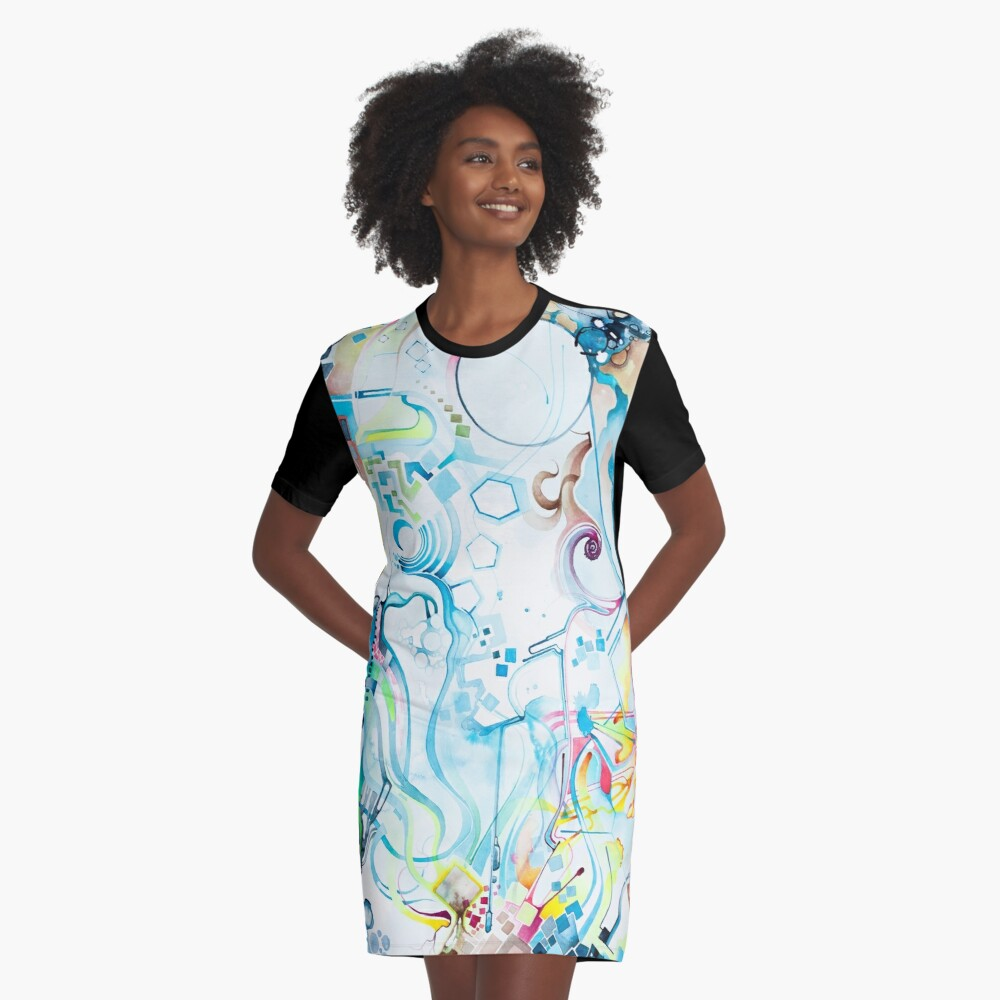 Fibroblasts  - Watercolor Painting Graphic T-Shirt Dress Front