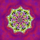 Spider Eye Mandala - Magenta BG by melasdesign